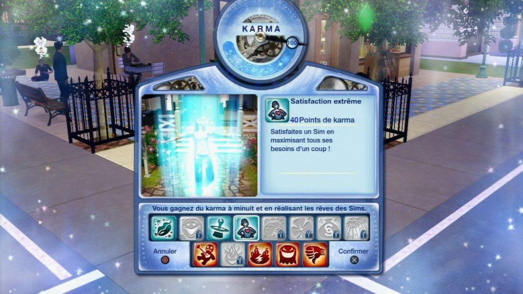 sims3 PS3 pouvoir de karma