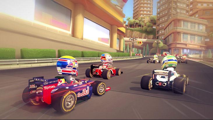 F1 stars race monaco